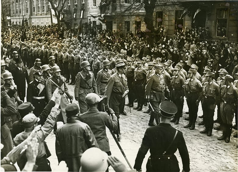 Von Hinderberg reviwing SA Troops 1933
