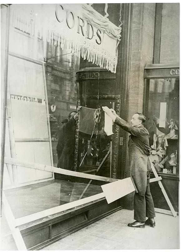 Kristallnacht #2 glass repairs