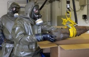 Picture handling chemical weapons